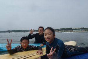 家族でサーフィン